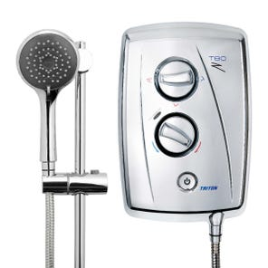 T80Z Fast-Fit Electric Shower - Chrome