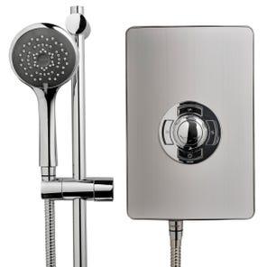Aspirante Electric Shower - Brushed Steel