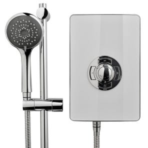 Style 3 Electric Shower - White Gloss