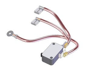 Microswitch and Wire 10.5kW Bottom Assembly (upto 2011)