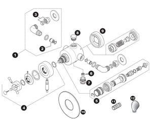 Alpha Concentric Mixer Shower Spares