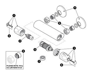 Altair Bar Mixer Shower Spares