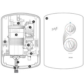 Amber III Electric Shower Spares
