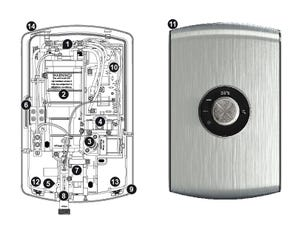 Amore Electric Shower - Brushed Steel Spares