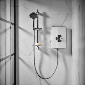Aspirante Electric Shower - White Gloss
