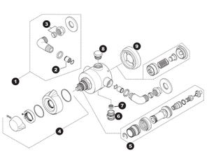 Bellisimo Concentric Mixer Shower Spares
