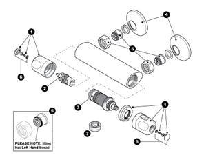 Calida Bar Mixer Shower Spares
