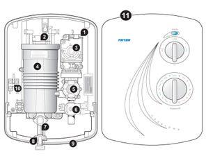 Caselona Electric Shower - Satin Spares