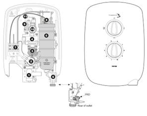 Caselona 3 Electric Shower Spares
