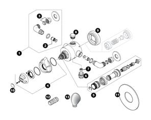 Dart Eco Concentric Mixer Shower Spares