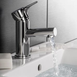 Dene Basin Mono Mixer Tap with Slotted Click Clack Waste