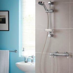 Dene Lever Hi-Flo Bar Mixer Shower