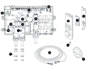 Digital Mixer Shower Spares - Multi Outlet