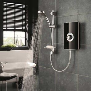 Aspirante Electric Shower - Black Gloss