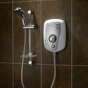 T100xr Electric Shower - White/Satin