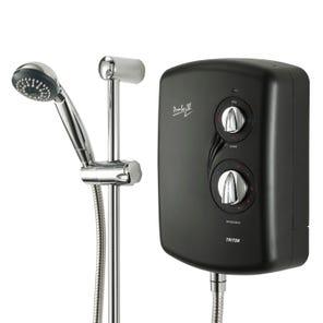 Amber III Electric Shower - Black
