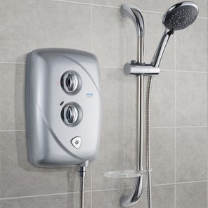 T80 Easifit Electric Shower - Satin