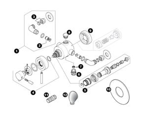 Hart Concentric Mixer Shower Spares