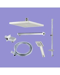 Dual Outlet Mixer Shower Combination Pack 4 - Square Edge