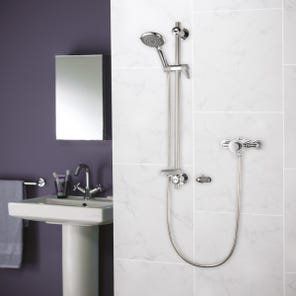 Elina Exposed Concentric TMV3 Mixer Shower + Grab
