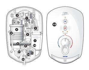 T100e Care Plus Thermostatic Shower Spares