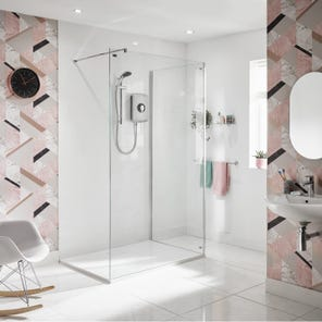 Amore Electric Shower - Brushed Steel