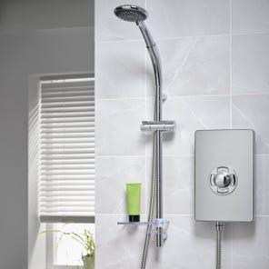 Aspirante Enhance Electric Shower - Brushed Steel