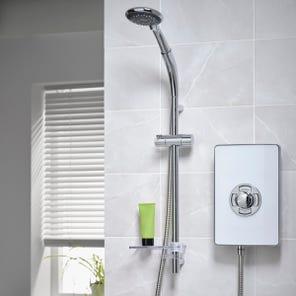 Aspirante Enhance Electric Shower - Gloss White