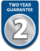 Two year parts and labour guarantee