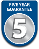 Five year parts and labour guarantee