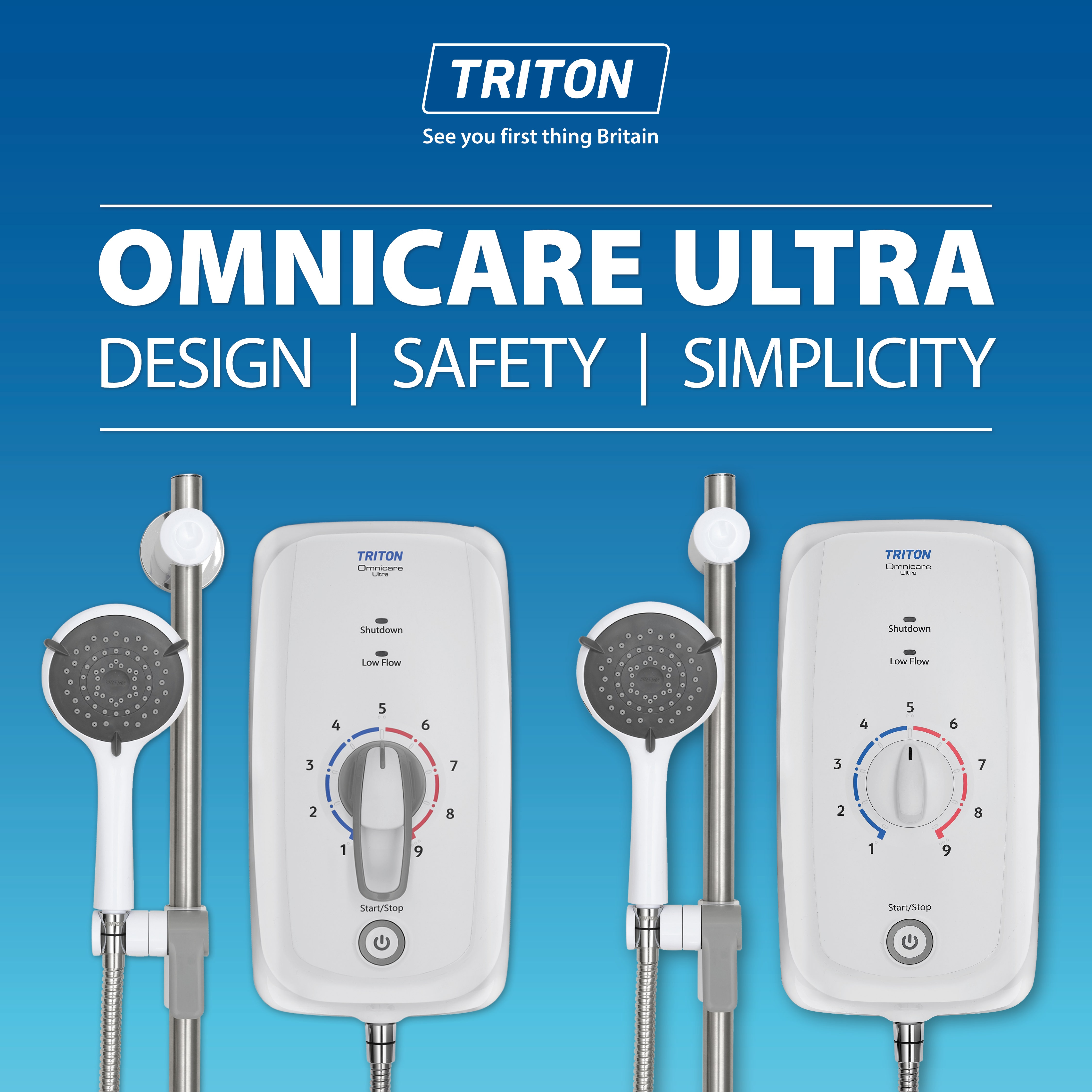 Triton Showers Omnicare Ultra Range