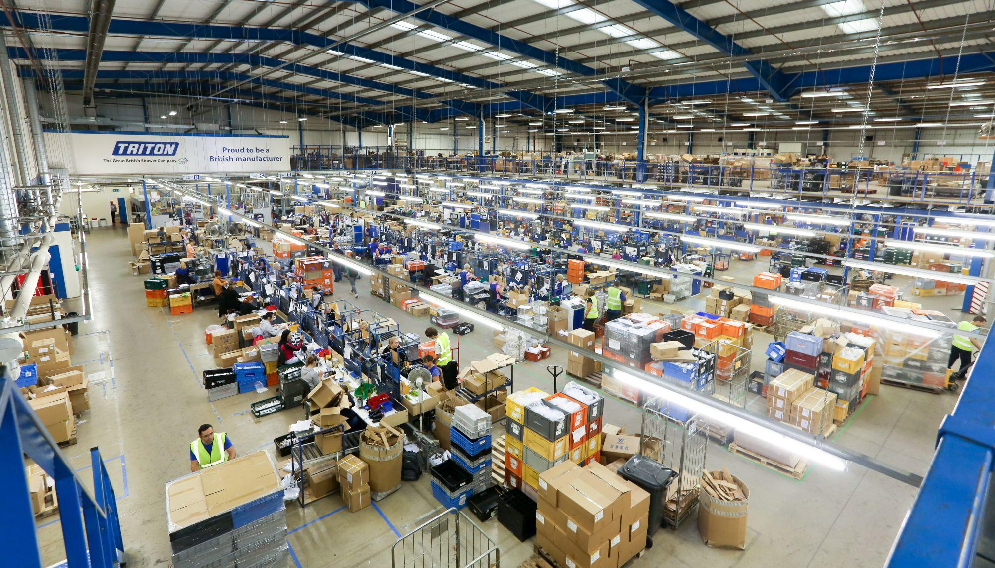 Factory production at Triton HQ